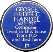 Blue plaque - Handel