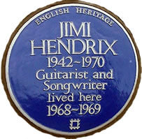Blue plaque - Jimi Hendrix