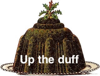 Up the duff' - the meaning and origin of this phrase