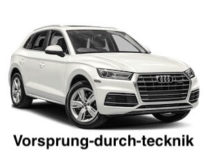 The meaning and origin of 'Vorsprung Durch Technik'.